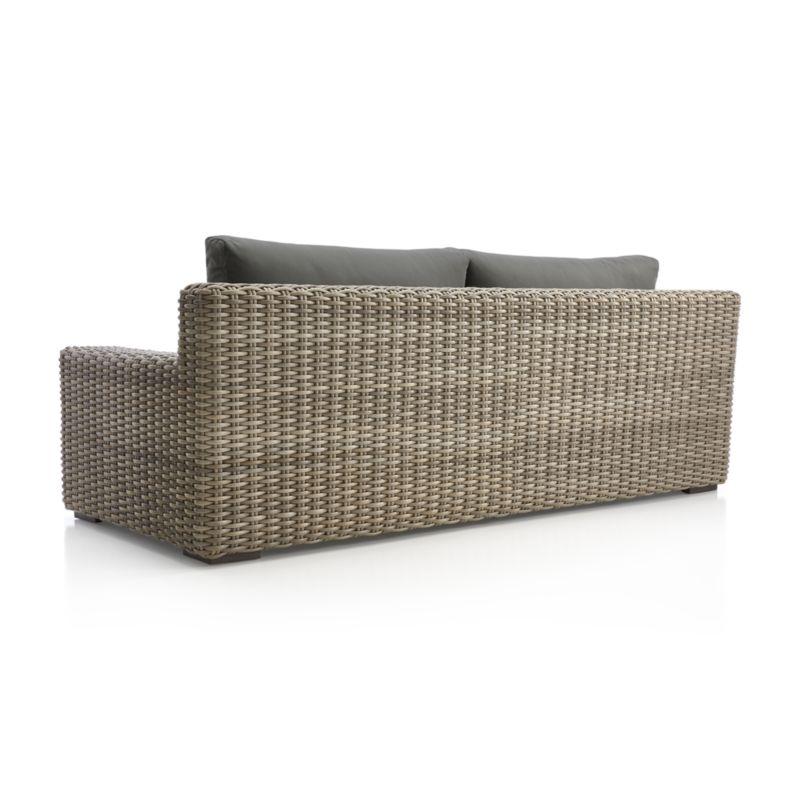 Abaco Outdoor Sofa with Graphite Sunbrella ® Cushions
