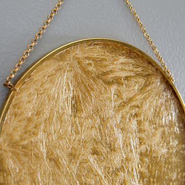 Gilded Pendant Wall Art, Set of 3