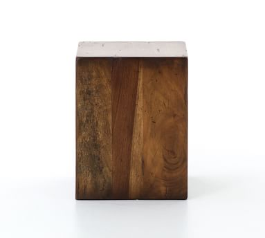 Parkview Reclaimed Wood Accent Cube