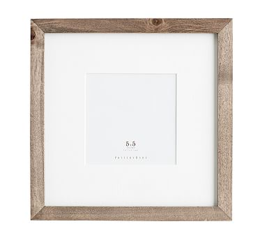Wood Gallery Single Opening Frame, 5X5 - Gray