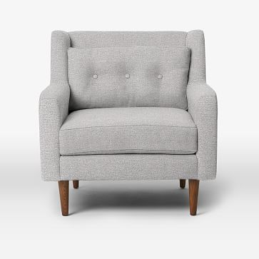 Crosby Armchair, Chenille Tweed, Frost Gray