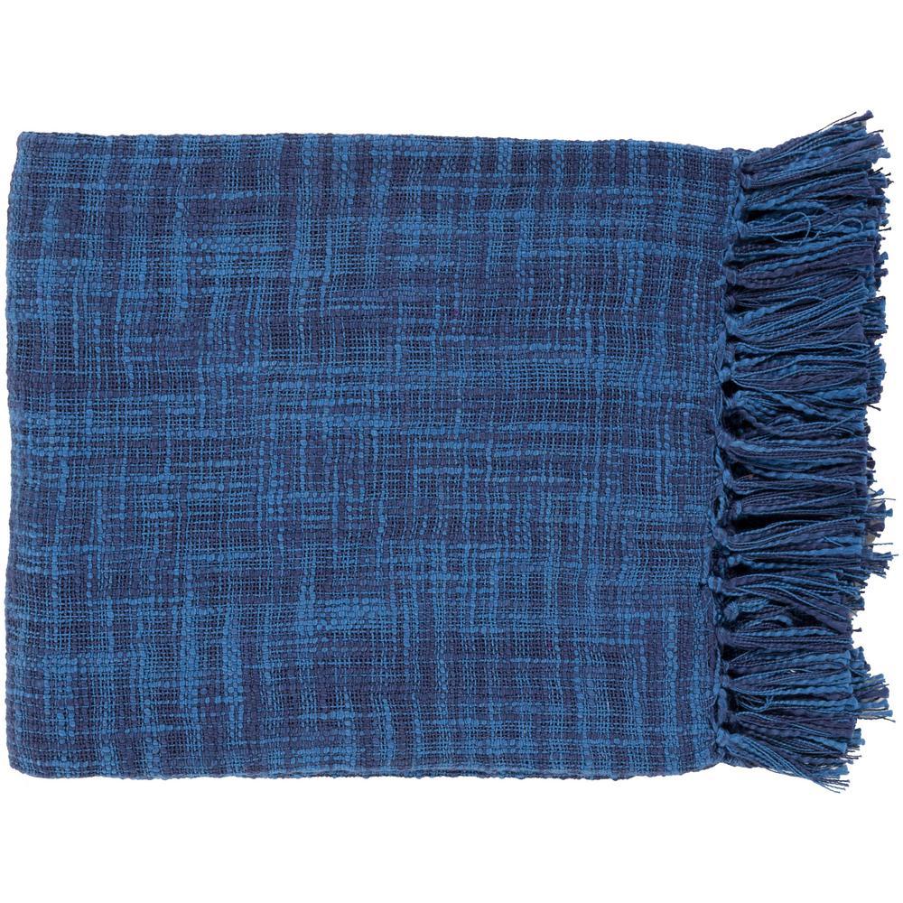 Phoebe Cobalt (Blue) Cotton Throw