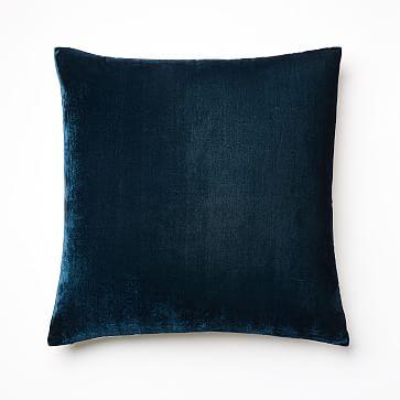 Lush Velvet Pillow Cover,  Regal Blue, Individual