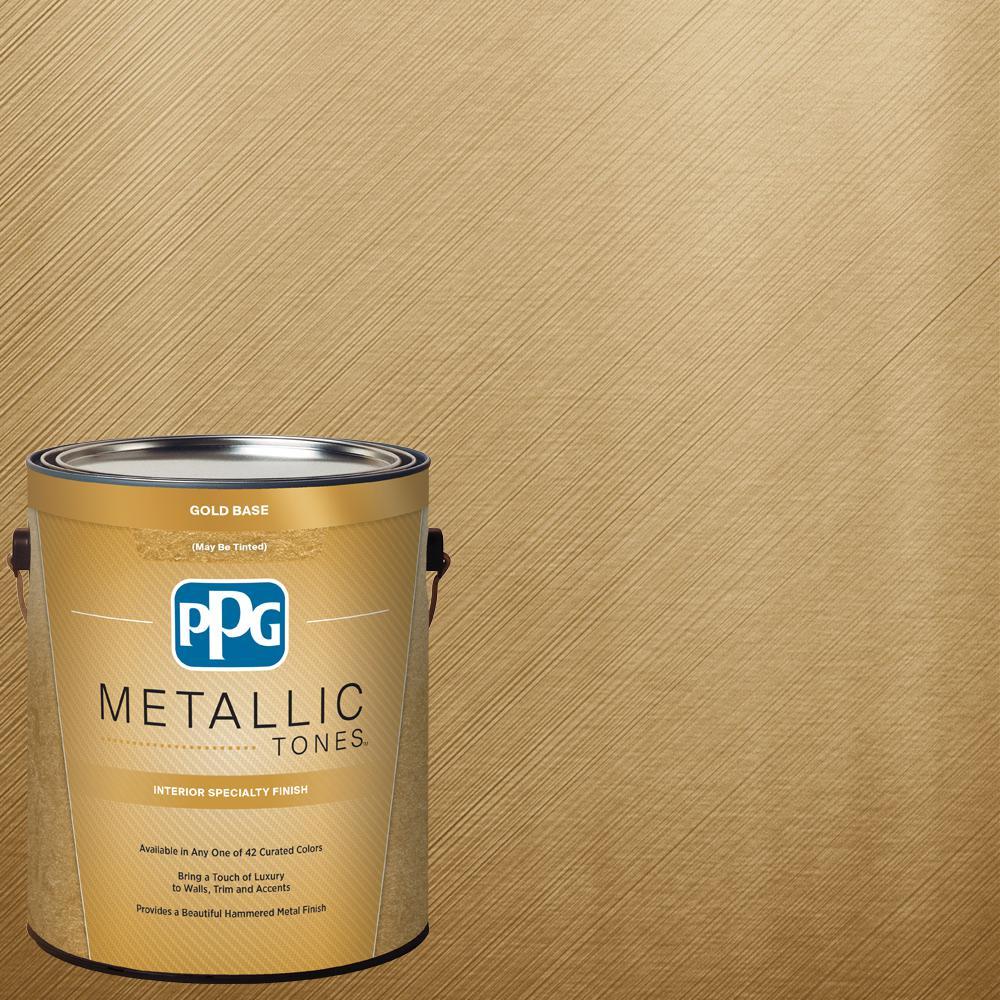 PPG METALLIC TONES 1 gal. #MTL137 Gilded Gold Metallic (Grey) Interior Specialty Finish Paint