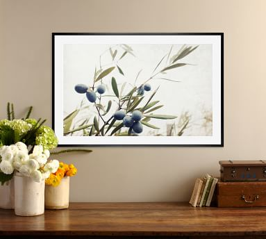 Olive Branches Lupen Grainne 20x16 Wood Gallery Black Mat