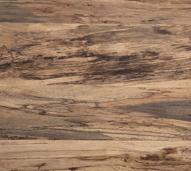 Terri Coffee Table, Primavera Wood/Oxidized Iron
