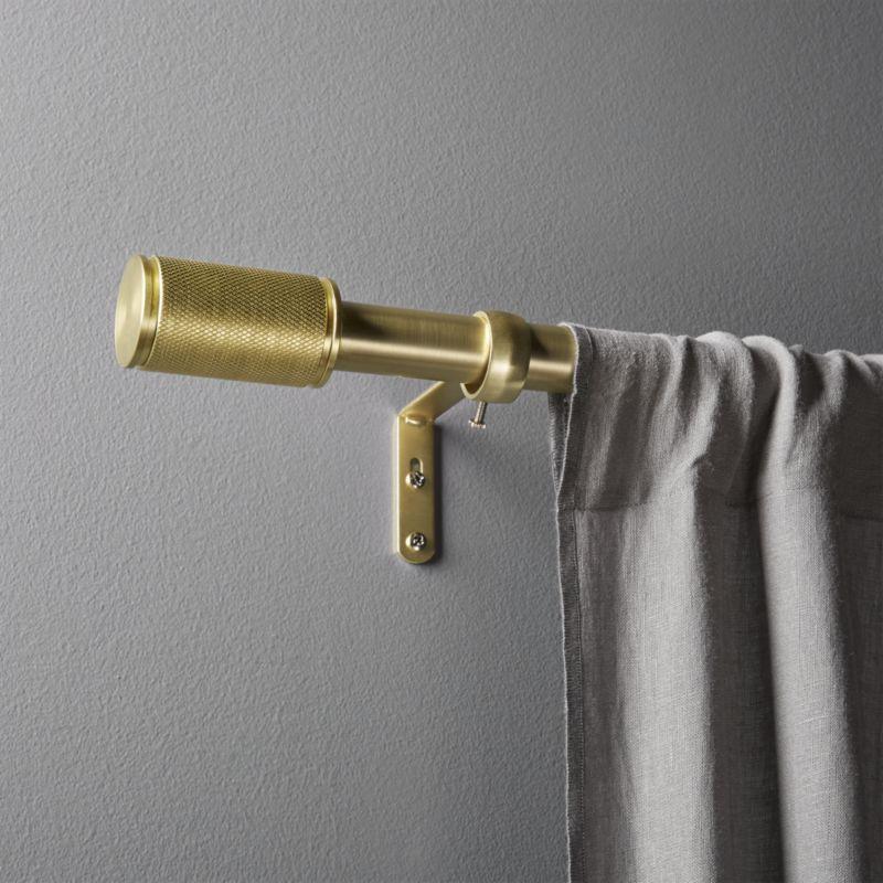 """Amp Brass Curtain Rod Set 88""""-120""""x1""""dia."""