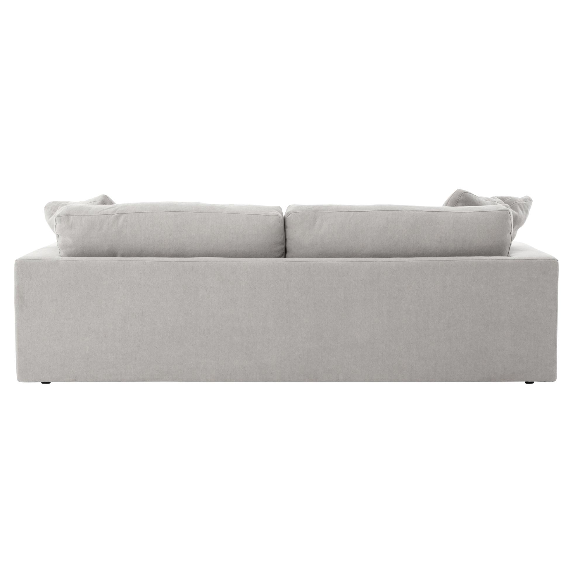 Macklin Modern Loft Block Arm Pewter Grey Sofa