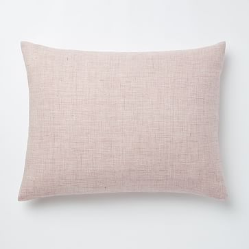 Belgian Flax Linen Fiber Dyed Standard Sham, Vintage Rose