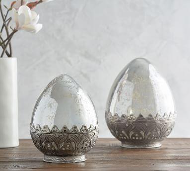 Madeline Mercury Glass Eggs - Small