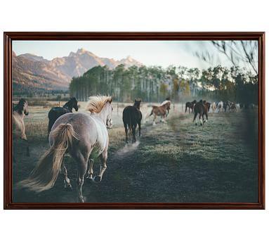 "Kick 'Em Up Framed Print By Camrin Dengel, 28x42"", Ridged Distressed Frame, Espresso, No Mat"
