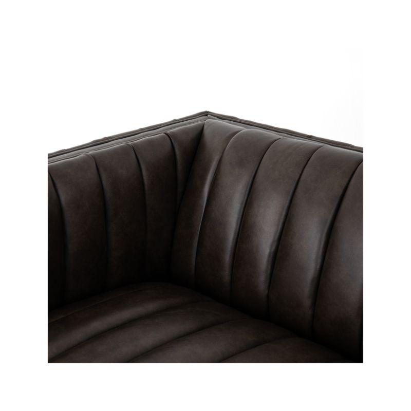 Cosima Leather Channel Tufted Sofa