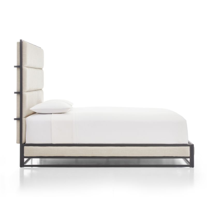 Oxford Ivory Upholstered King Bed