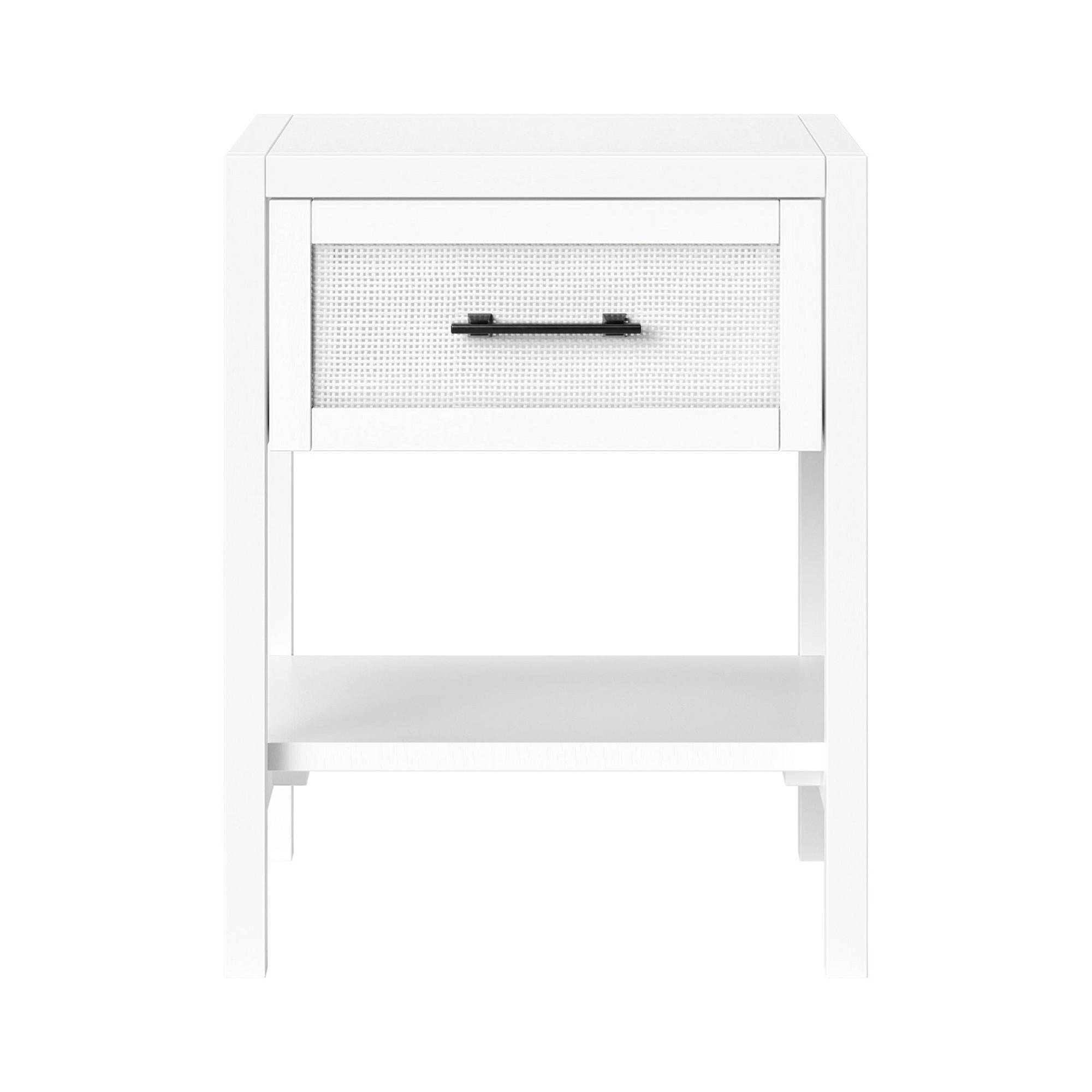 Warwick Wood Rattan Side Table White Threshold Target