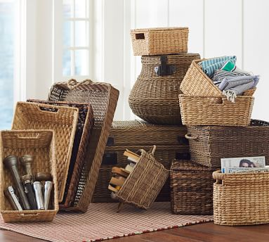 Savannah Oval Magazine Basket