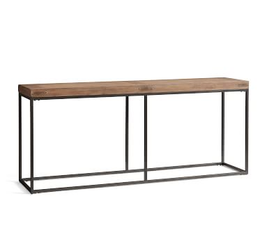 """Malcolm 71"""" Wood Console Table, Glazed Pine"""