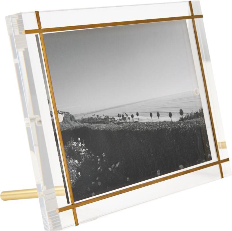 "Stella Brass Inlay Acrylic Photo Frame 5""x7"" RESTOCK IN MID APRIL 2021."