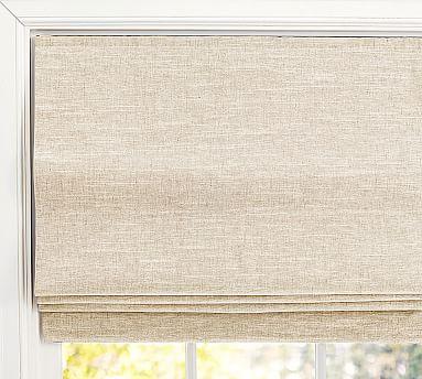 "Emery Linen/Cotton Cordless Roman Shade, 36 x 64"", Oatmeal"