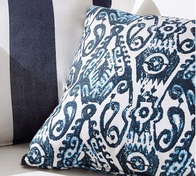 "Sunbrella(R) Delphi Ikat Indoor/Outdoor Pillow, 22"", Blue Combo"