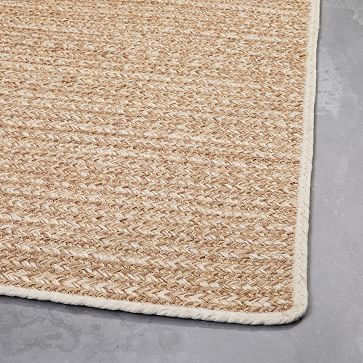 Woven Cable Indoor/Outdoor Rug, Natural, 5'x8'