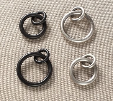 PB Standard Round Rings, Set of 7, Small, Antique Bronze Finish