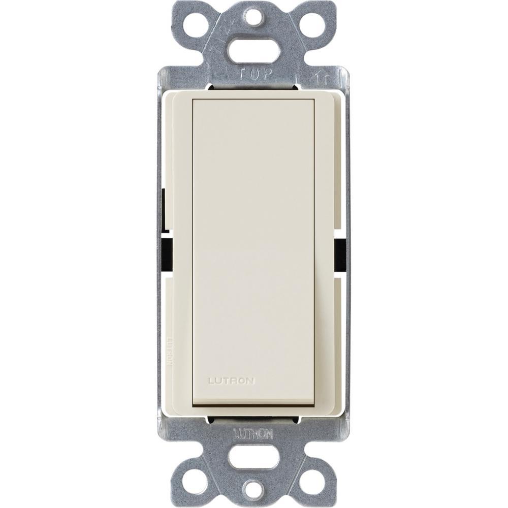 Claro 15 Amp 4-Way Rocker Switch with Locator Light, Light Almond