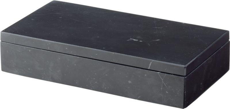Large Black Marble Box