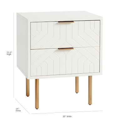 Jennings Statement Nightstand, Simply White, In-Home