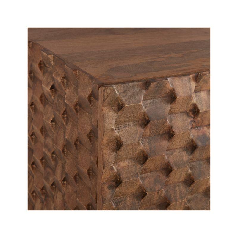 Raffael Carved Wood Media Console