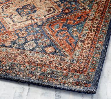 Mahalia Printed Rug, 3x5, Blue Multi
