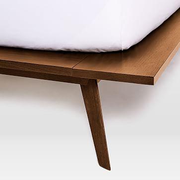 Mid-Century Platform Bed-Queen, Walnut