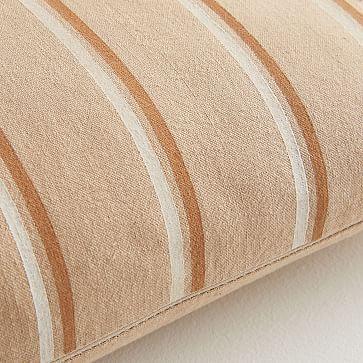 JUNEDAY Hana Lumbar Pillow Cover, Small, Hazelnut