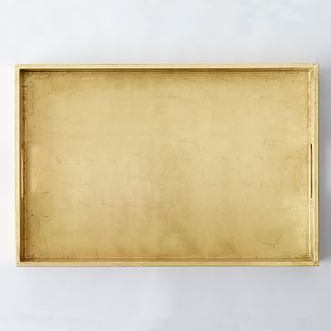 """Reclaimed Wood Lacquer Tray, 18""""x 28"""", Gold"""