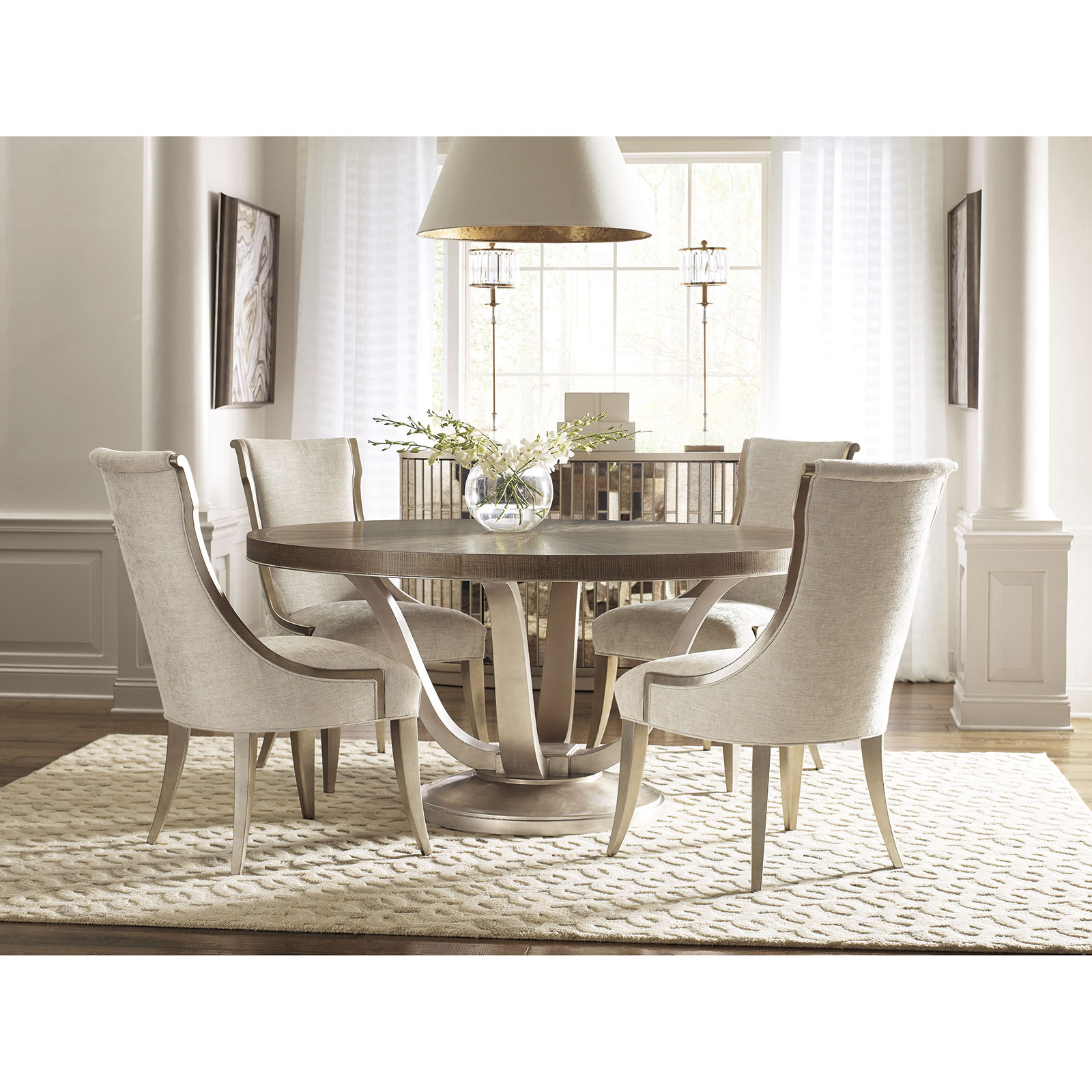 Catelyn French Country Beige Upholstered Dining Side Chair