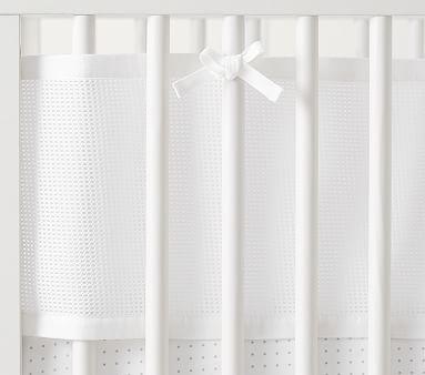 Linen Crib Skirt, Gray