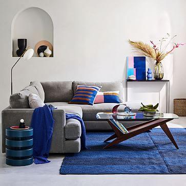 Floating Disks Side Table, Petrol Blue