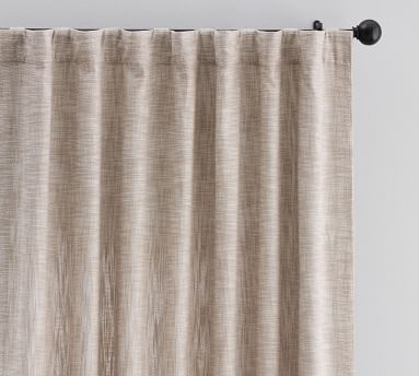 """Seaton Textured Blackout Drape, 50 x 84"""", Neutral"""