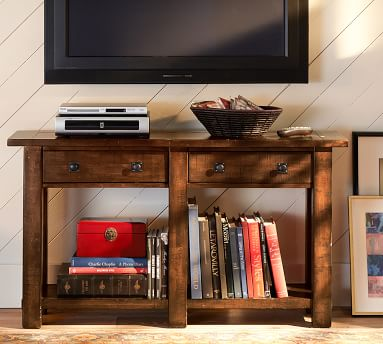 Benchwright Console Table, Rustic Mahogany stain