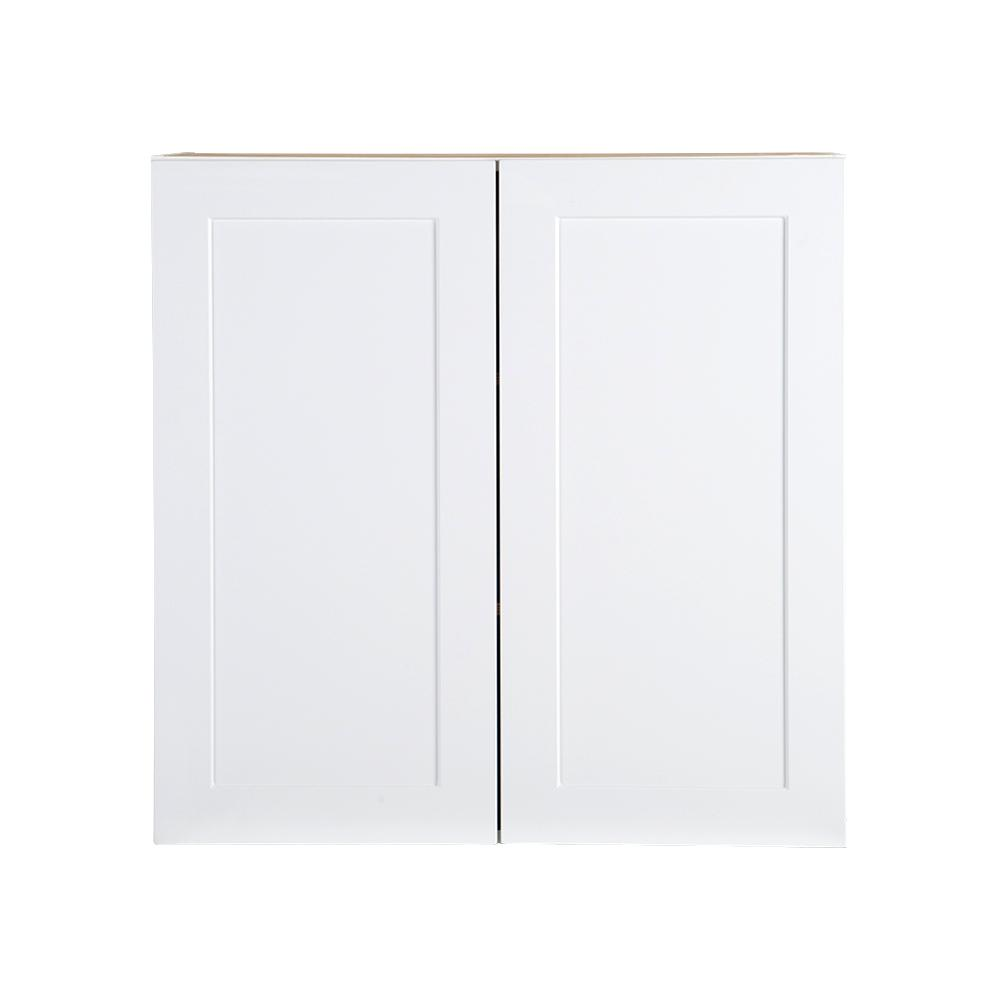 Cambridge Assembled 30x30x12.5 in. All Plywood Wall Cabinet in White