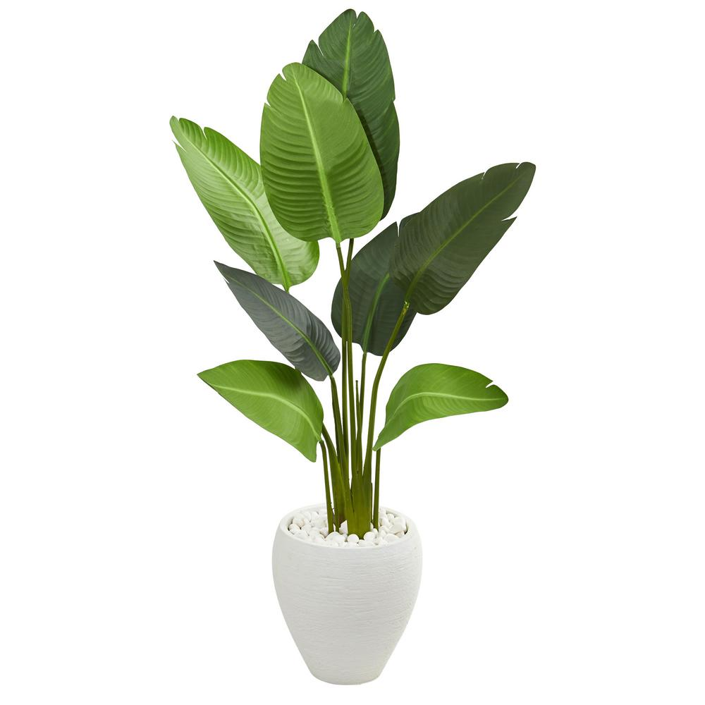Indoor 4 ft. Travelers Artificial Palm Tree in Oval Planter
