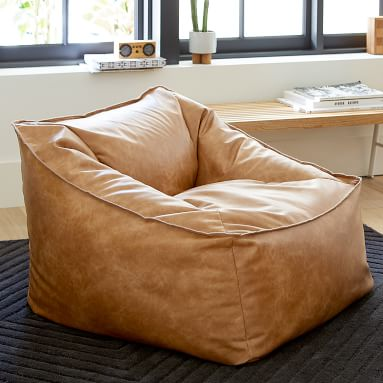 Modern Lounger, Vegan Leather Caramel