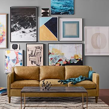"""Minted for west elm, Abstract Landscape, 44""""x44"""""""