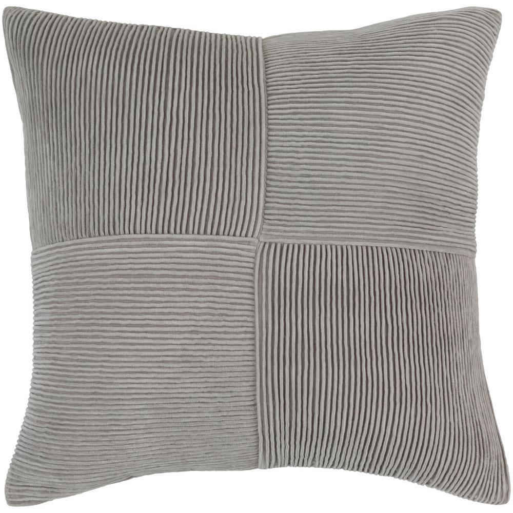 Leake Poly Euro Pillow, Grays