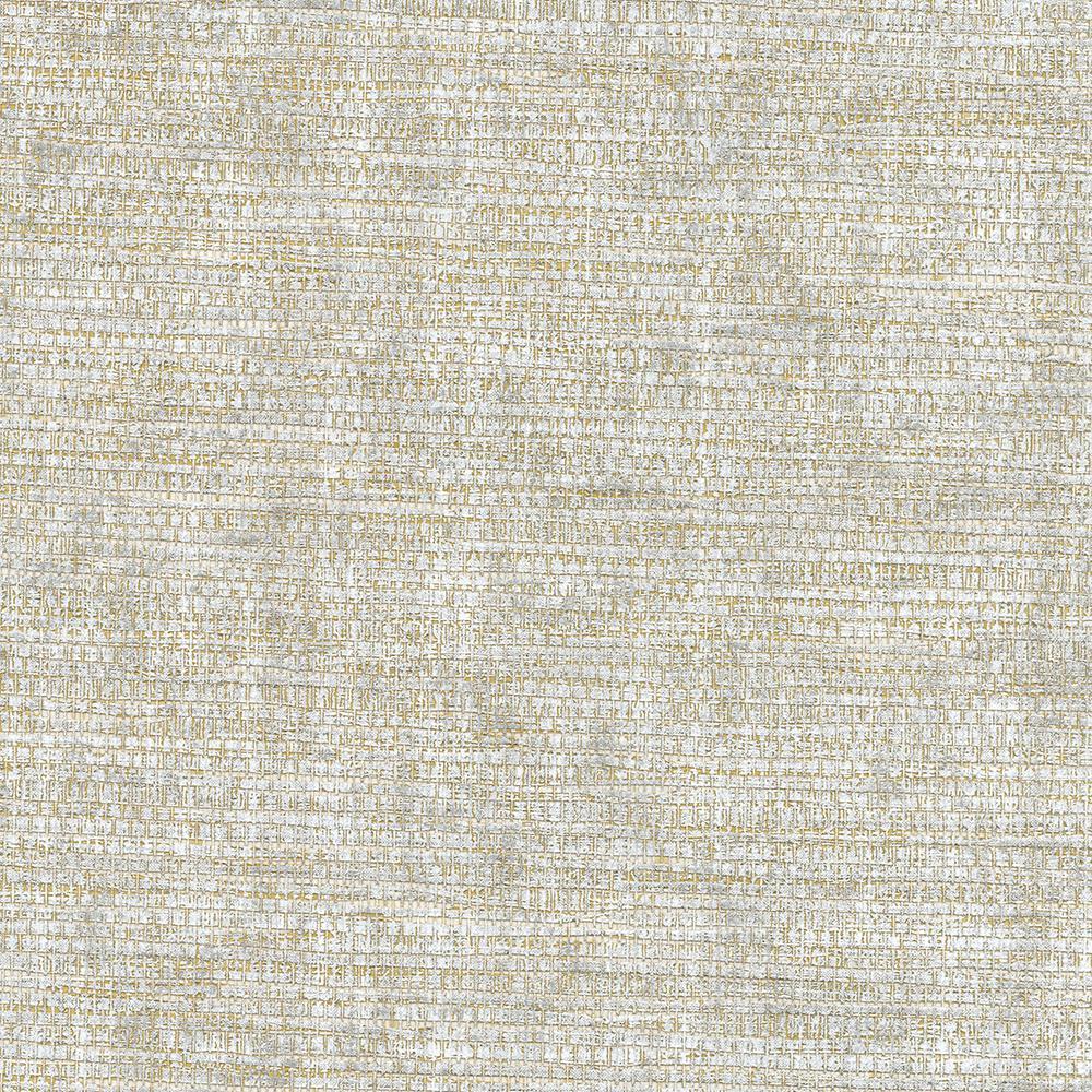 72 sq. ft. Kongur Silver Grass Cloth Wallpaper, Grey