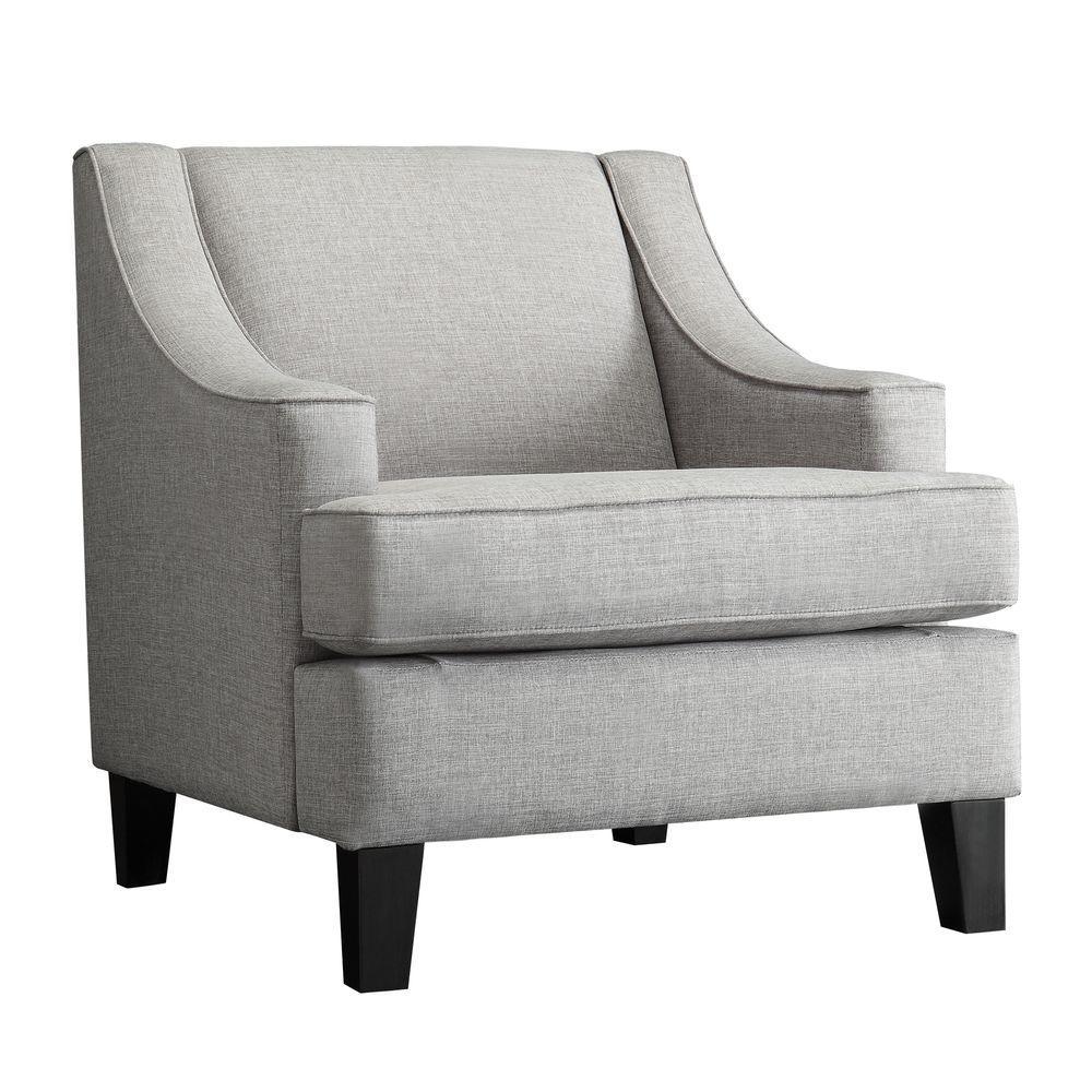 Watson Grey Linen Arm Chair, Upholstered/Grey