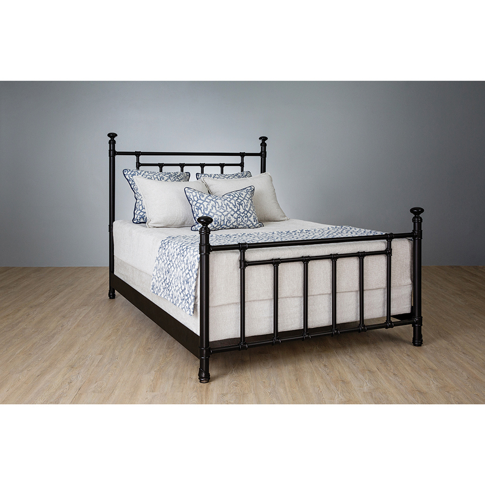 Denise French Country Black Iron Frame Bed - King