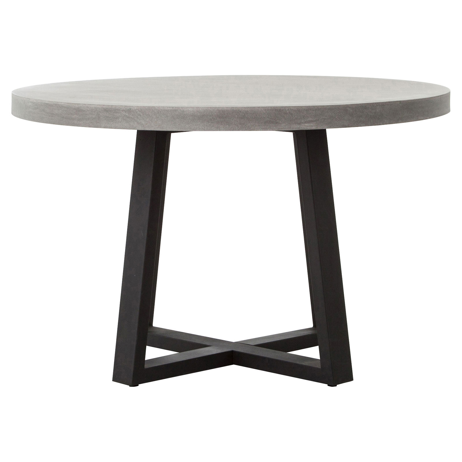 Maceo Modern Classic Round Composite Stone Metal Dining Table - 48 inch