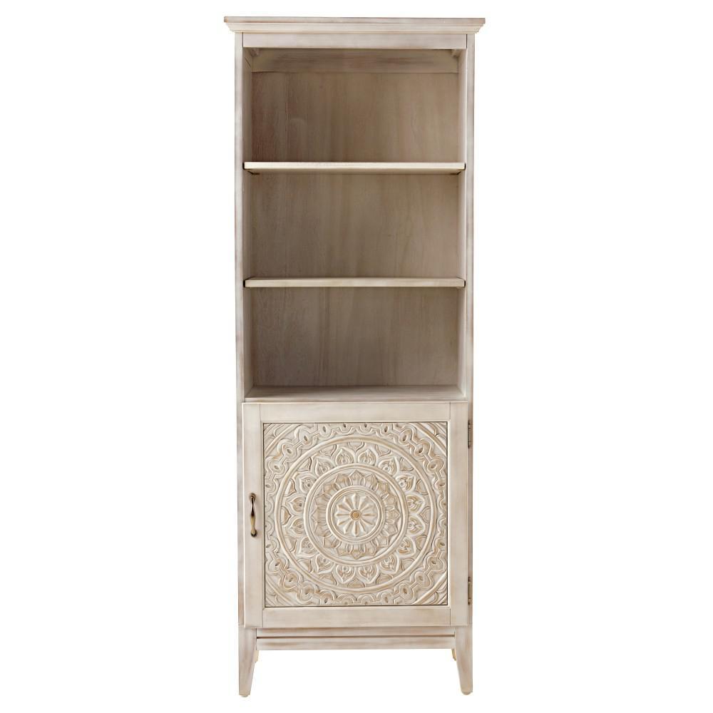 Home Decorators Collection Chennai 25 in. W Linen Cabinet in White Wash