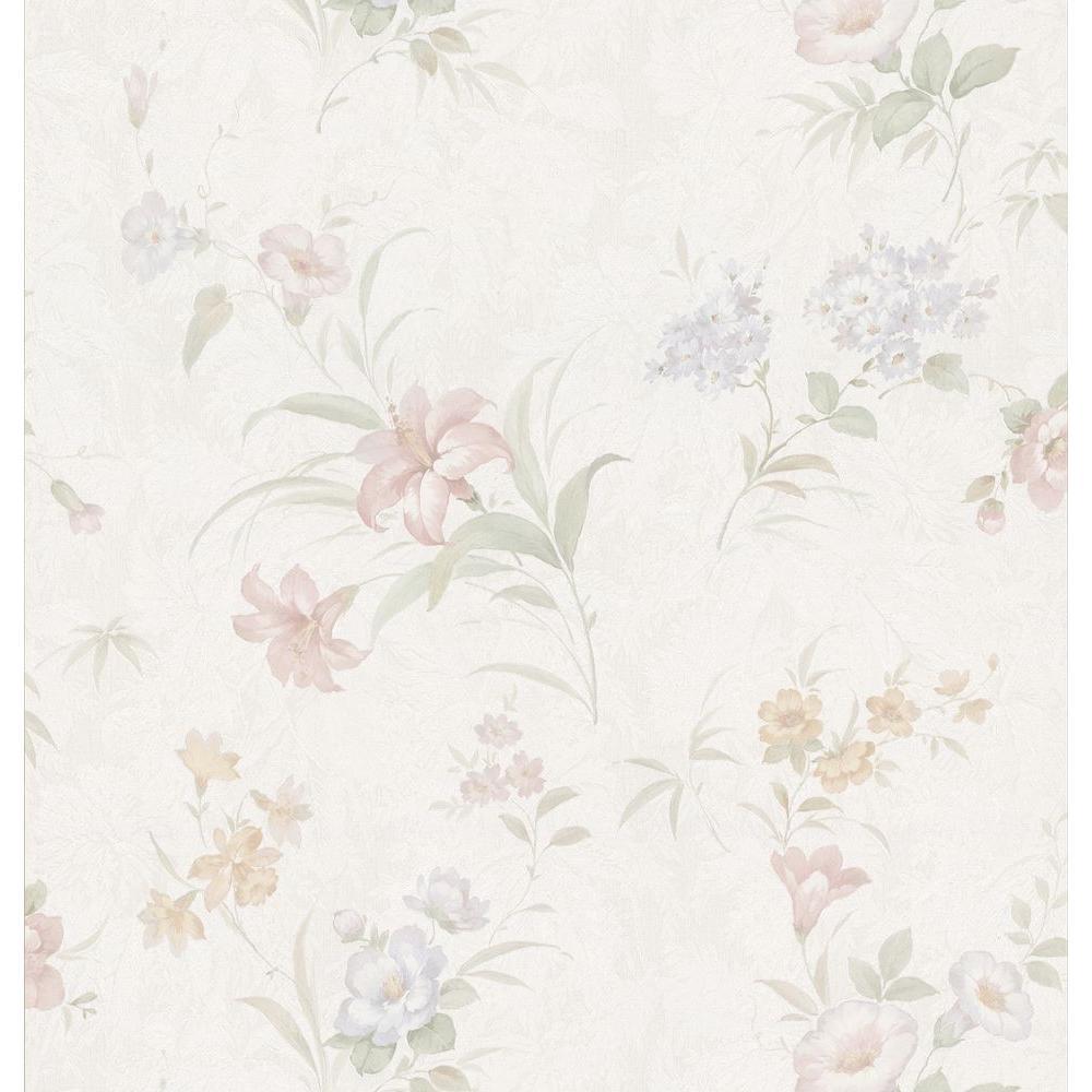 Lily Floral Wallpaper, White