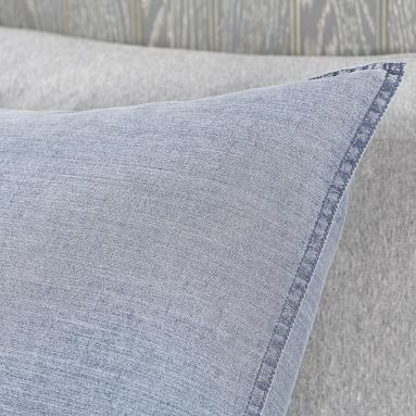 Vintage Washed Cotton Duvet Cover, Twin/Twin XL, Faded Navy